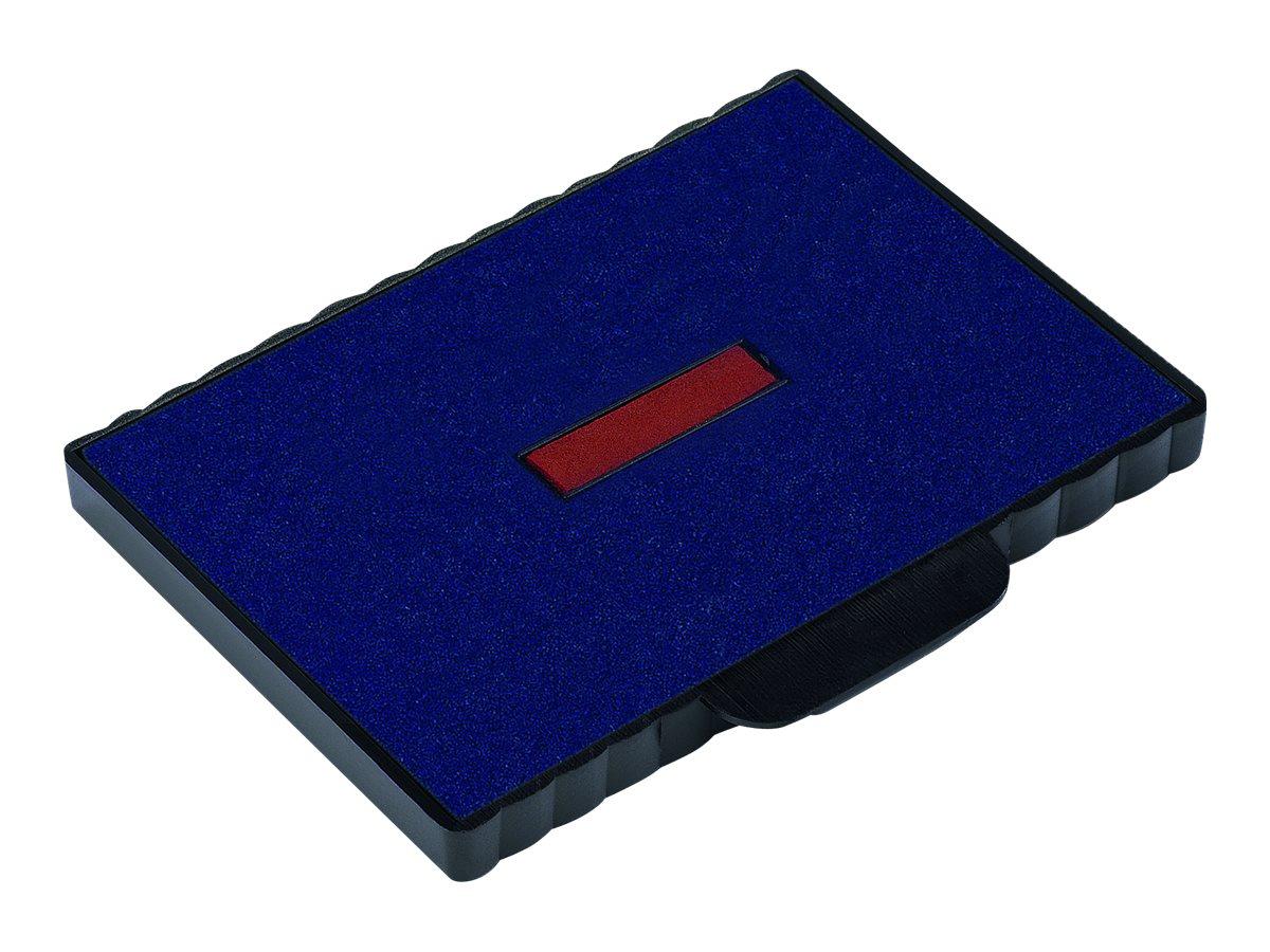 Trodat - 3 Encriers bicolores 6/511/2 recharges pour tampon 54110 - bleu/rouge