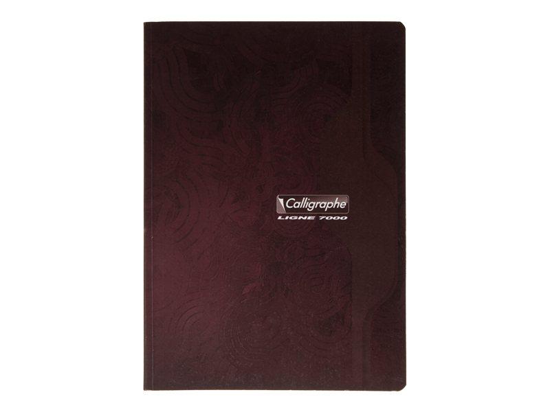 Calligraphe 7000 - Cahier broché 24 x 32 cm - 192 pages - grand carreaux - disponible dans différentes couleurs