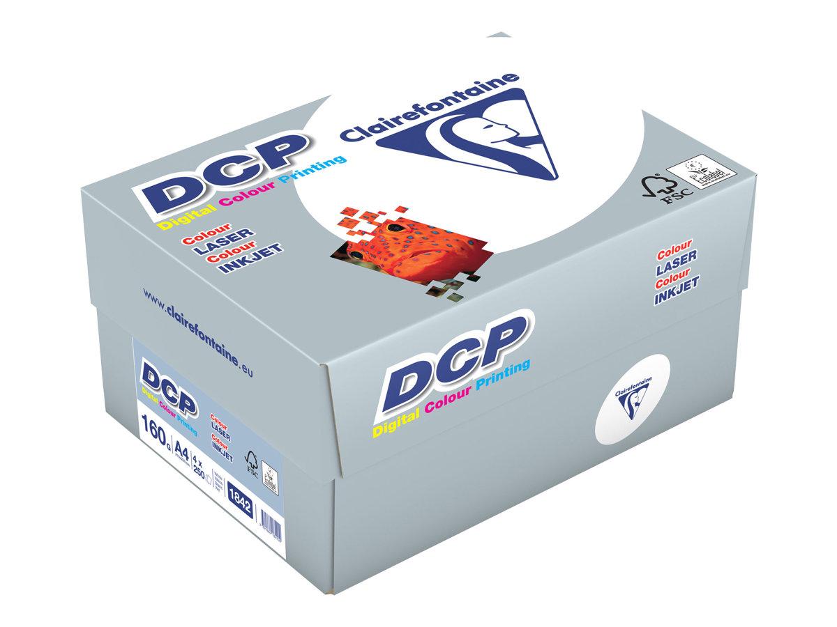 Clairefontaine DCP - Papier ultra blanc - A4 (210 x 297 mm) - 160 g/m² -  1000 feuilles (carton de 4 ramettes)