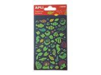 Apli - 1 feuille gommettes poissons fluo