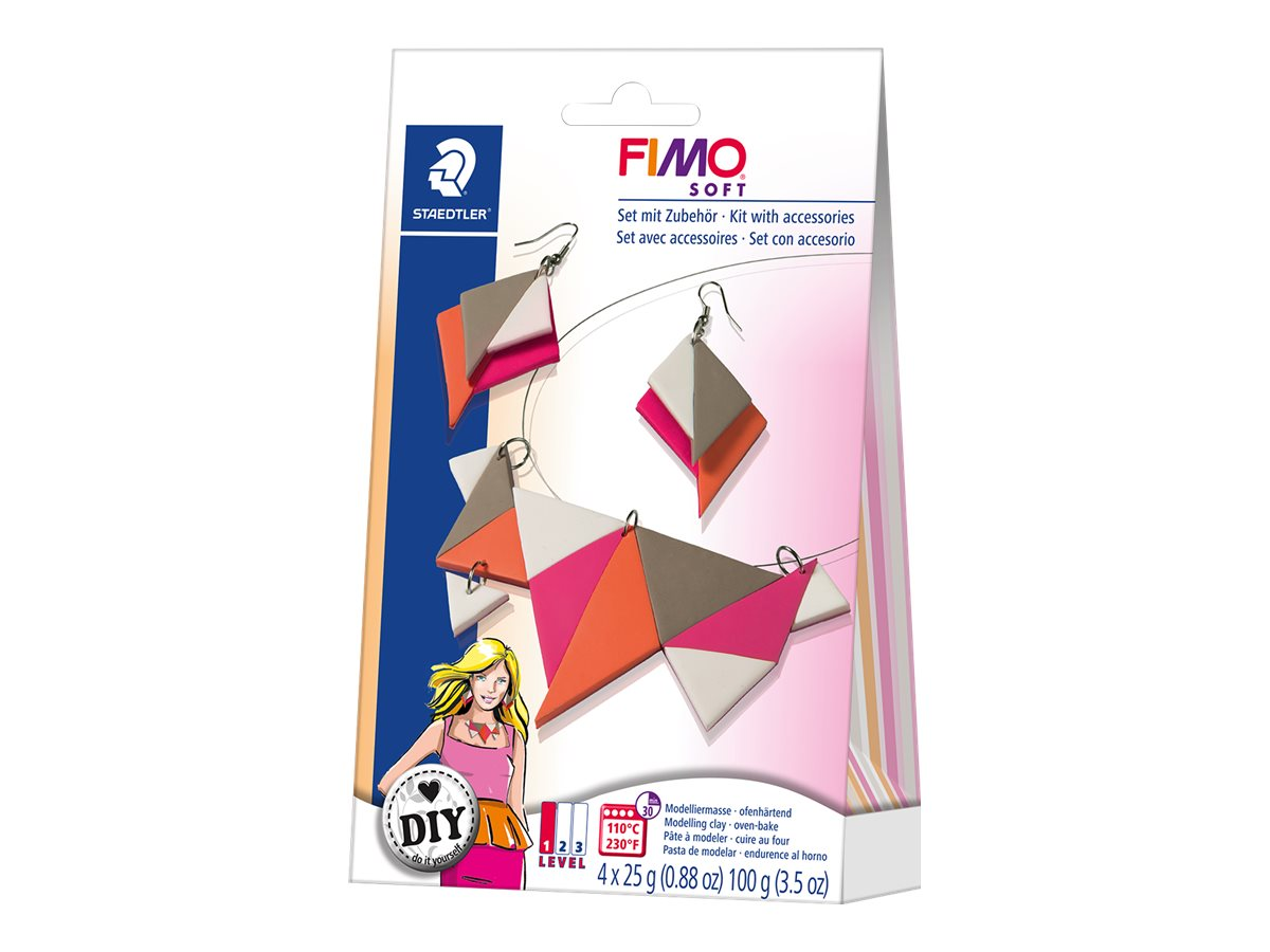 FIMO soft DIY jewellery pack Triangles - pâte à modeler
