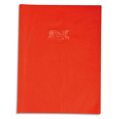 Calligraphe - Protège cahier sans rabat - 24 x 32 cm - grain cuir - rouge