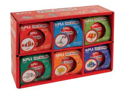 APLI - 12 Pots de pâte à modeler - poissons
