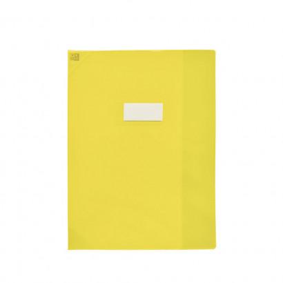 Oxford Strong Line - Protège cahier sans rabat - 24 x 32 cm - jaune translucide
