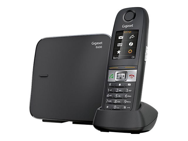 Gigaset E630 - téléphone sans fil - argent
