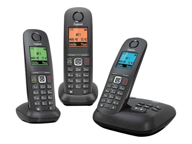 Gigaset A540A Trio - téléphone sans fil - système de répondeur avec ID d'appelant + 2 combinés supplémentaires