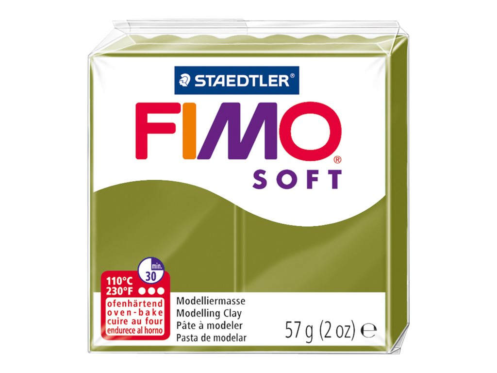 Pâte Fimo Soft-  vert olive  - 57G