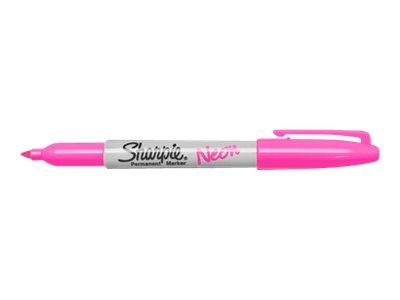 Sharpie - Pack de 12 marqueurs permanents - pointe fine - rose neon
