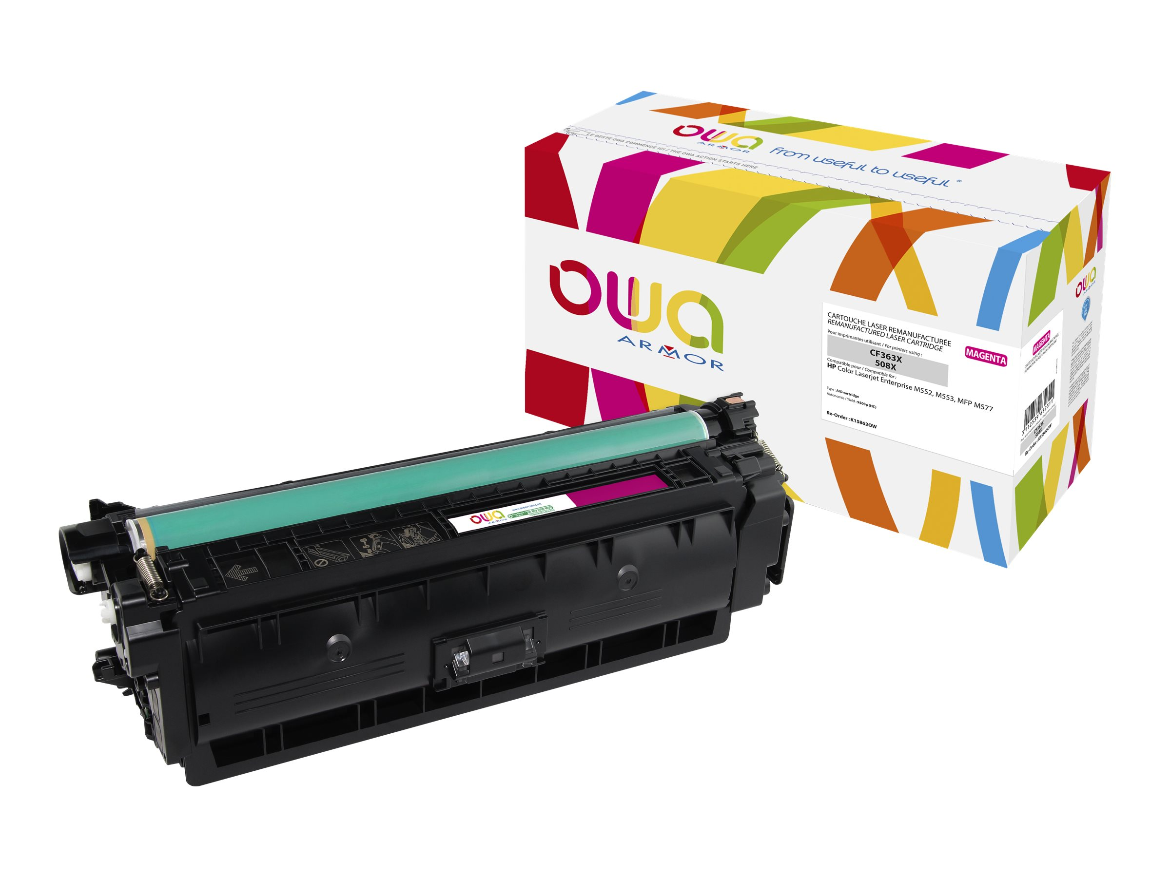 HP 508X - remanufacturé Owa K15862OW - magenta - cartouche laser