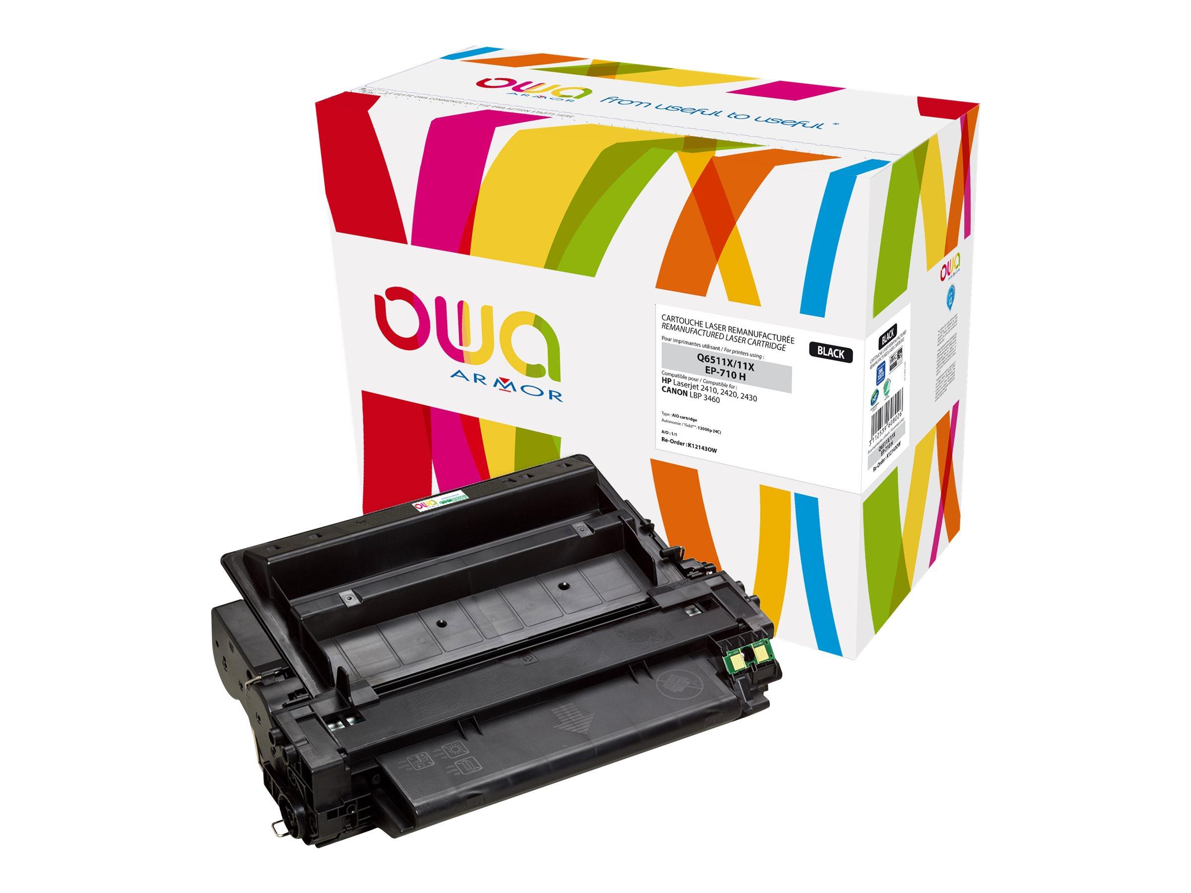 HP 11X - remanufacturé Owa K12143OW - noir - cartouche laser