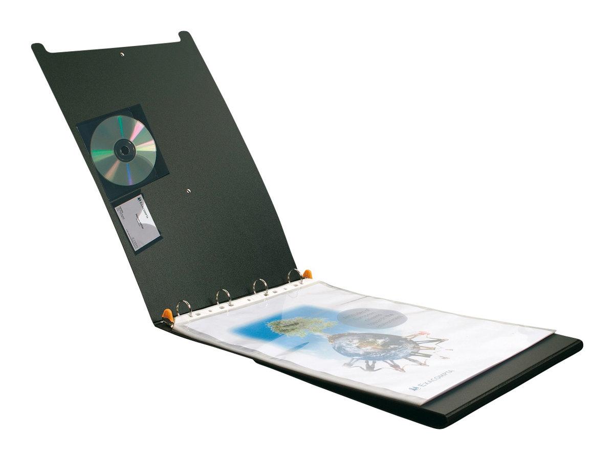 Exacompta Exactive Exashow - Portes-vues rechargeable - 50 vues - 5 positions - A3 - noir