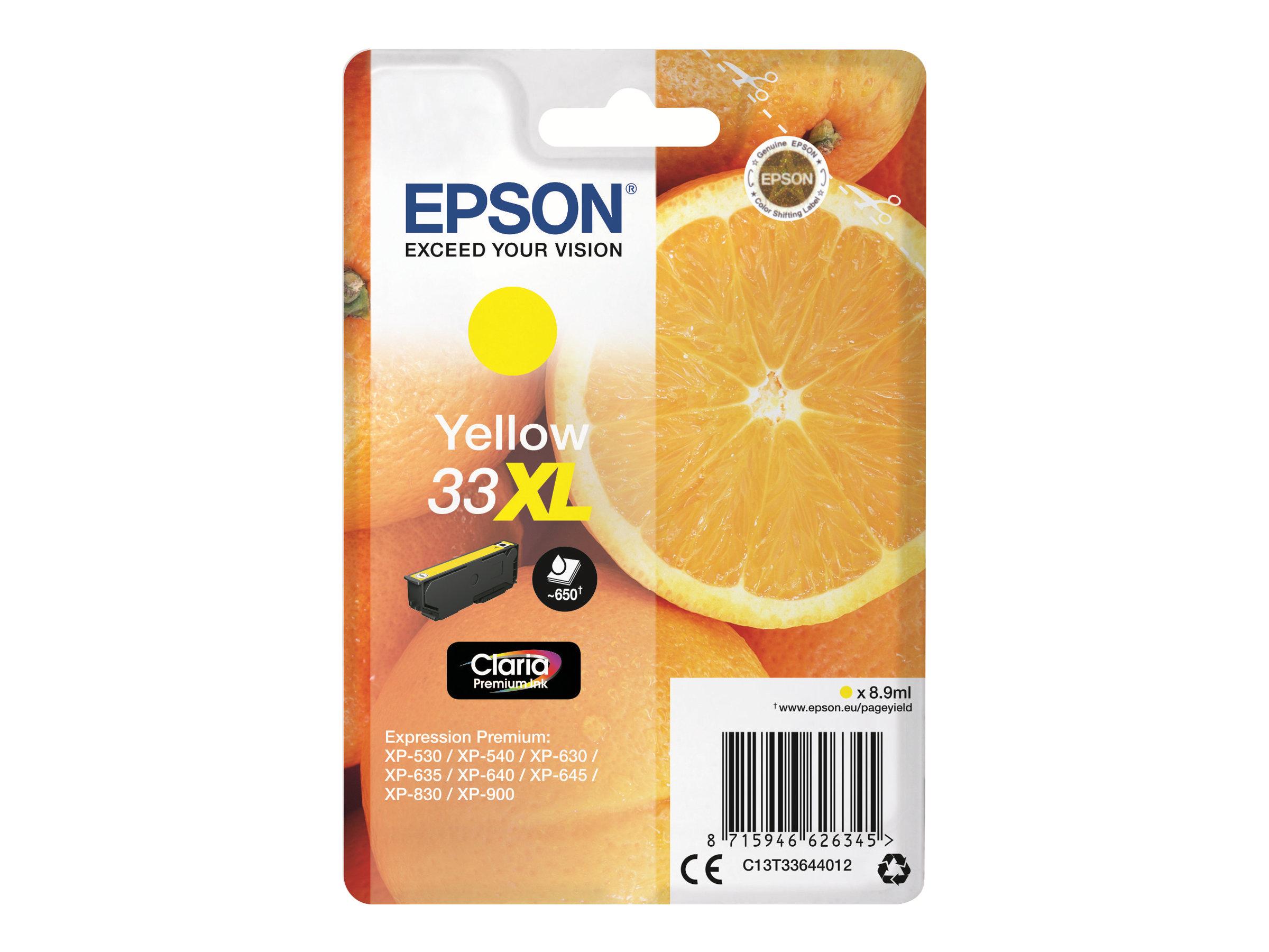 Epson 33XL Oranges - jaune - cartouche d'encre originale