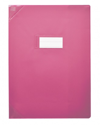 Oxford Strong Line - Protège cahier sans rabat - 17 x 22 cm - rose opaque