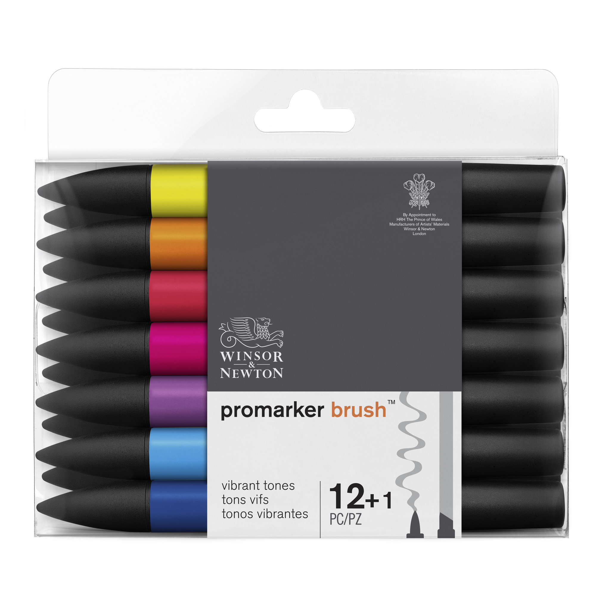 BrushMarker - Pack de 12 stylos pinceaux et marqueurs - teintes vives