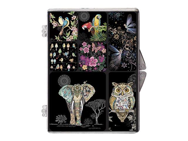 Kiub Bug Art - Boite Magnets Epoxy - Visuels divers oiseaux