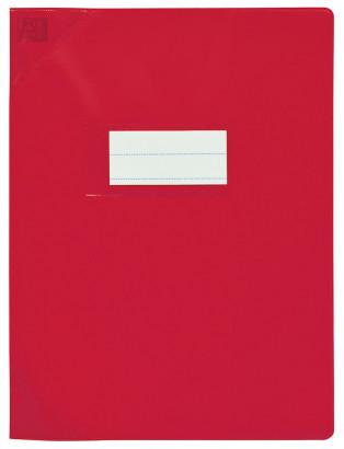 Oxford Strong Line - Protège cahier sans rabat - 17 x 22 cm - rouge opaque