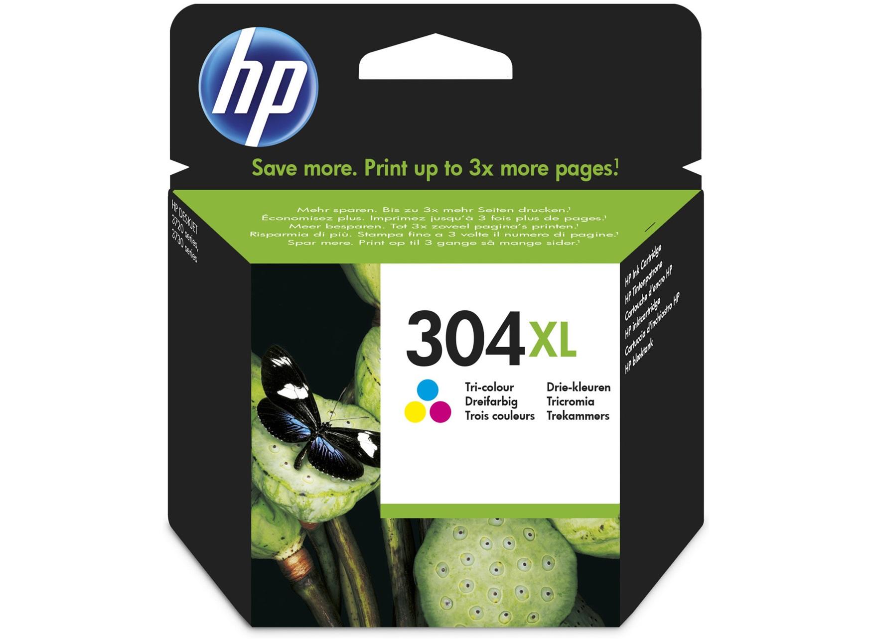 HP 304XL - cyan, magenta, jaune - cartouche d'encre originale