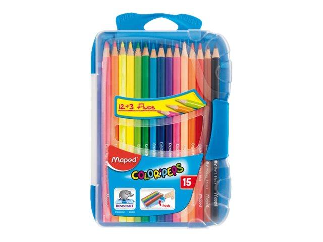 Maped Color'Peps - 15 Crayons de couleur