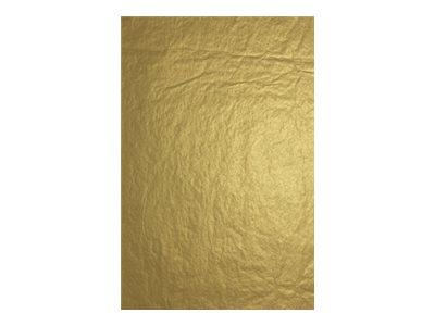 Clairefontaine - 4 feuilles pliées de papier de soie - 50 x 75 cm - or métallisé