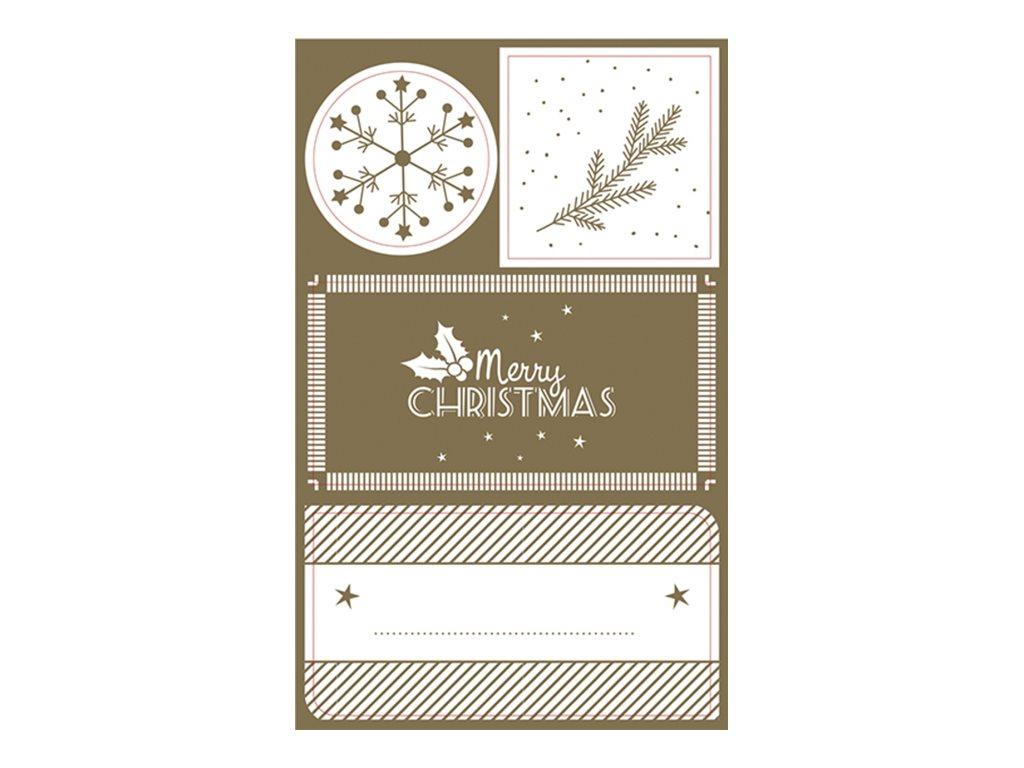 Clairefontaine - Sachet de 16 étiquettes Noël