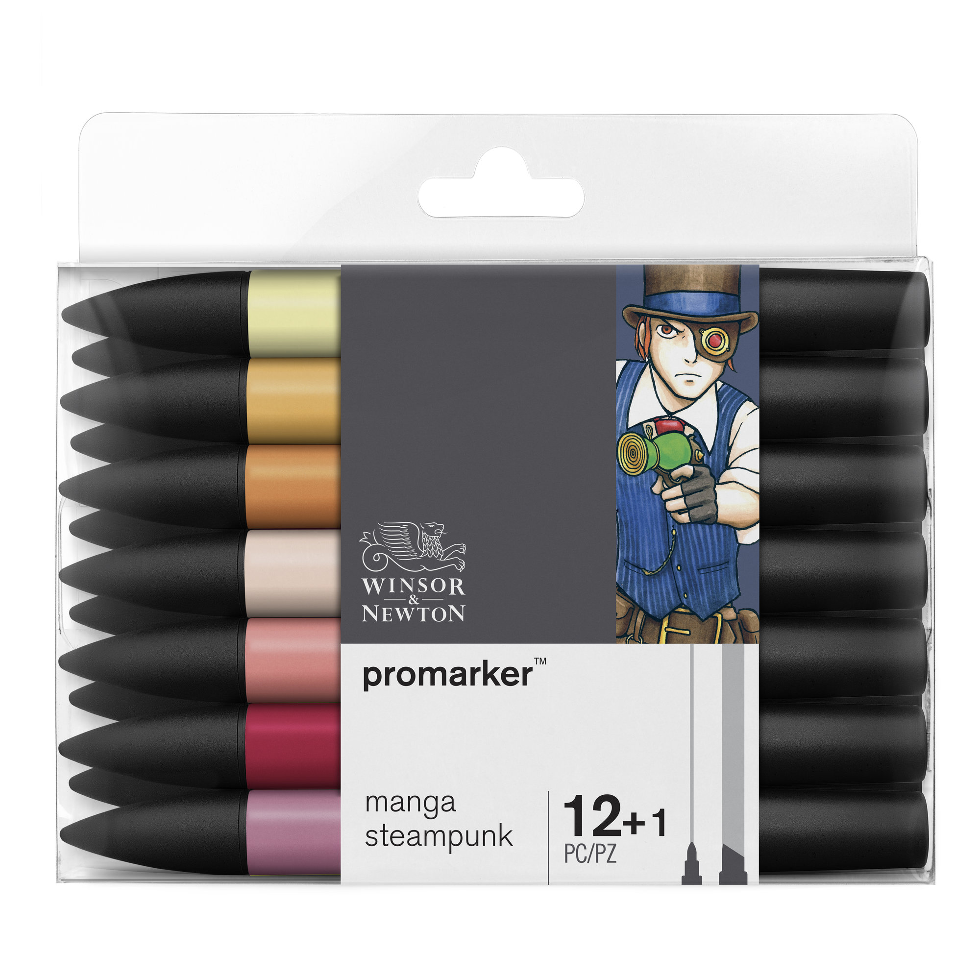 ProMarker - Pack de 13 marqueurs double pointe - manga steampunk