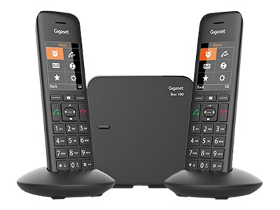 Gigaset C570 Duo - téléphone sans fil + combiné supplémentaire - noir