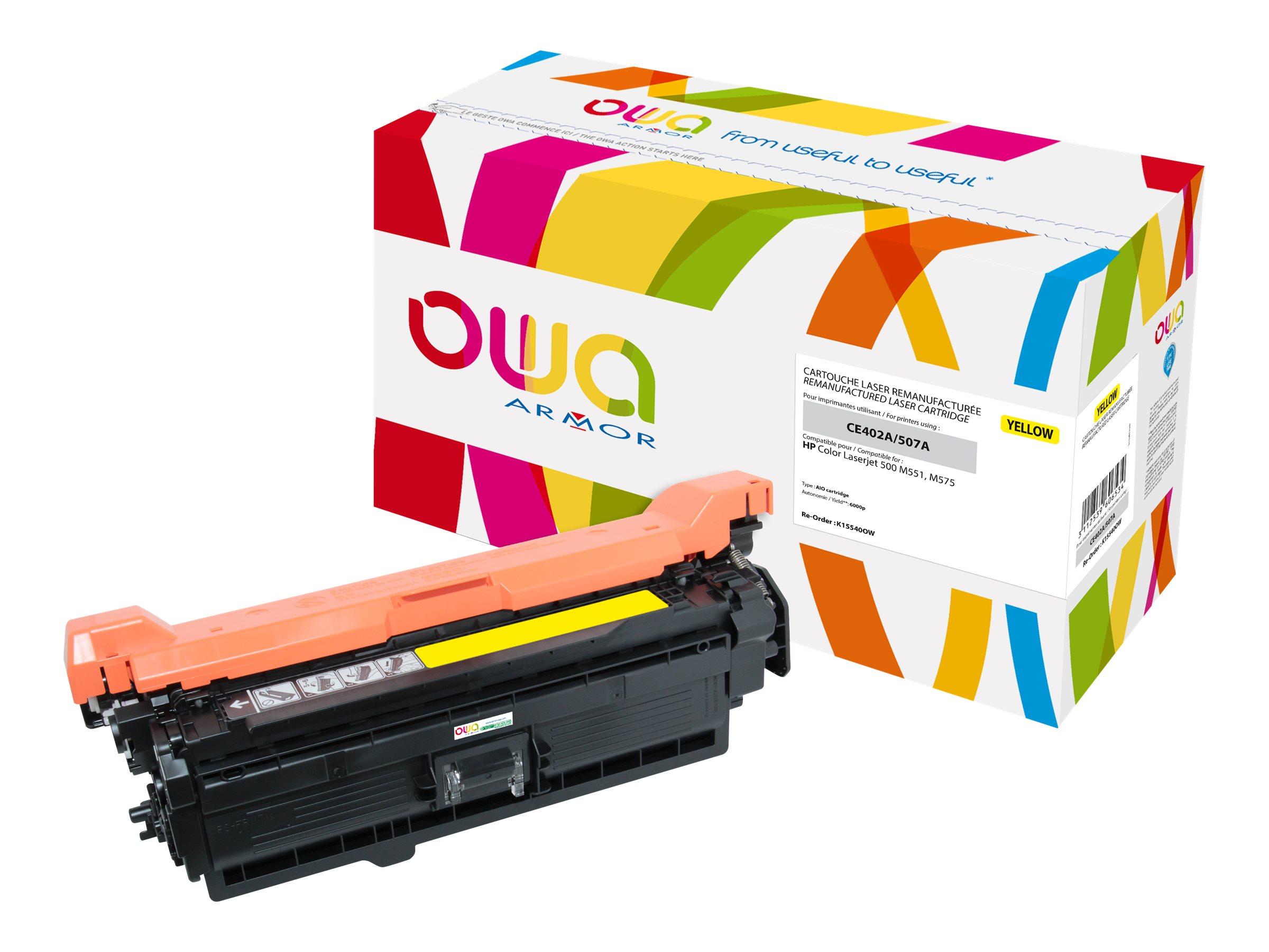 HP 507A - remanufacturé Owa K15540OW - jaune - cartouche laser
