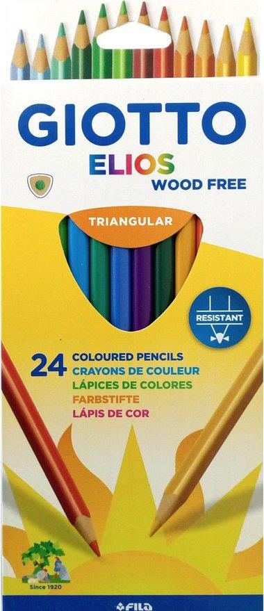 GIOTTO ELIOS - 24 Crayons de couleur triangulaires
