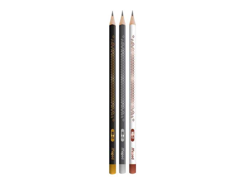 Maped BlackPep's - Pack de 3 crayons à papier - HB
