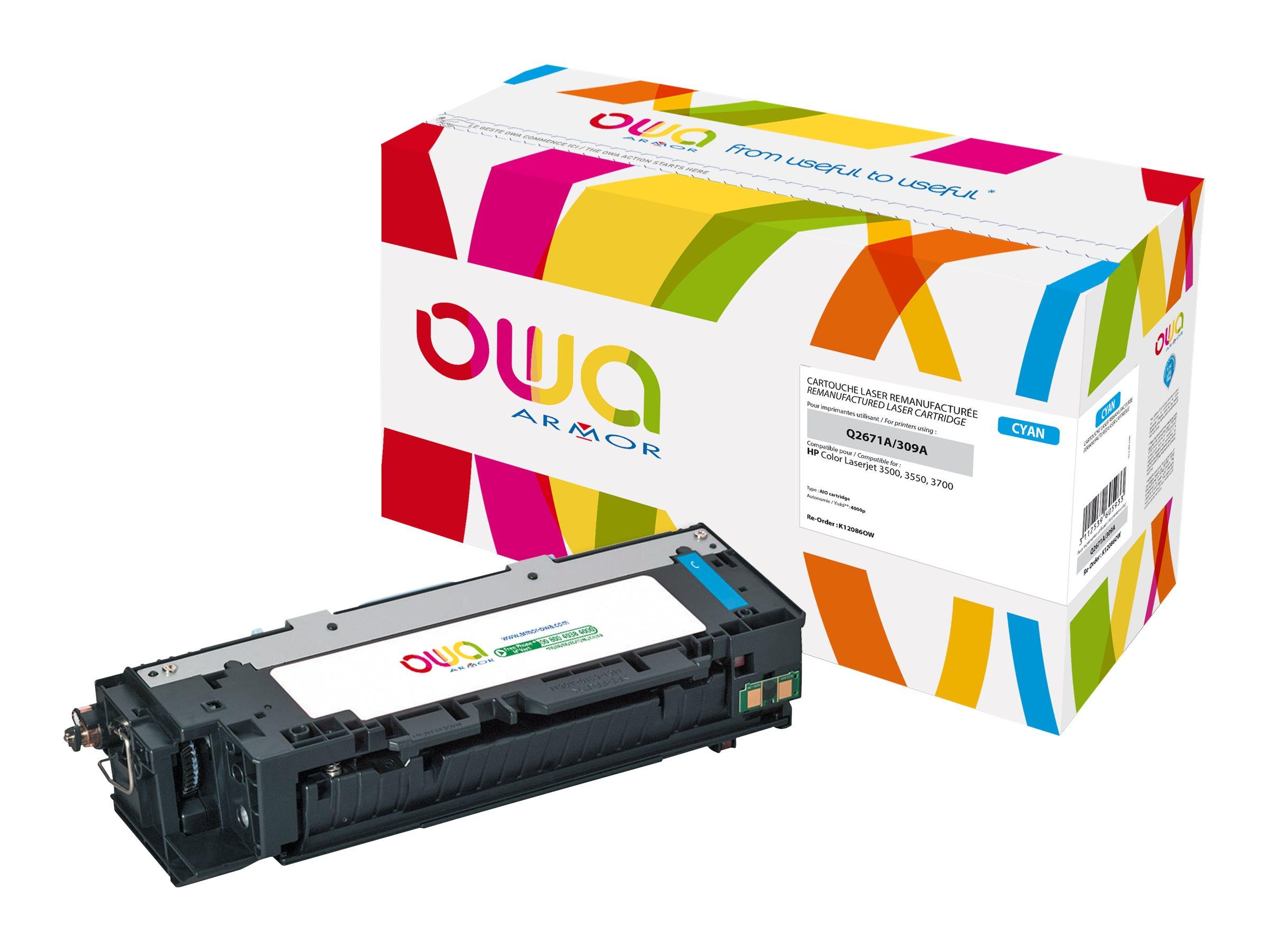 HP 309A - remanufacturé OWA K12086OW - cyan - cartouche laser