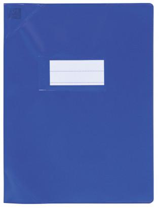 Oxford Strong Line - Protège cahier sans rabat - 17 x 22 cm - bleu opaque