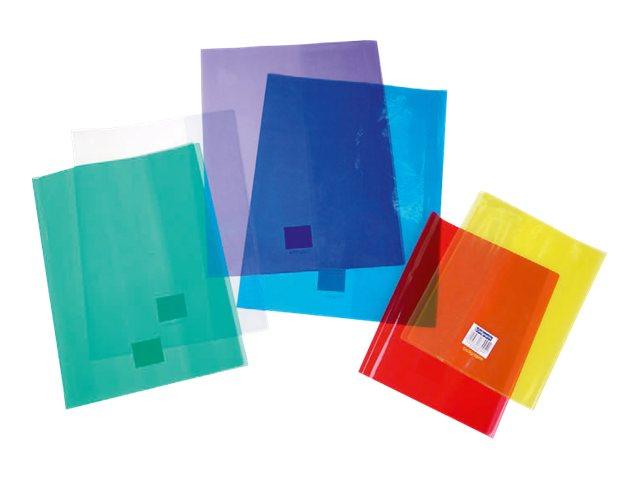 Calligraphe - Protège cahier sans rabat - 24 x 32 cm - cristalux - jaune transparent